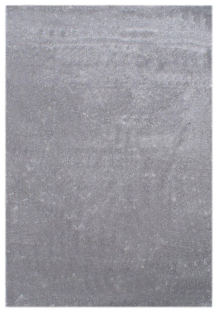 Kinderteppich Happy Rugs UNIFARBEN silbergrau 120×180 cm günstig