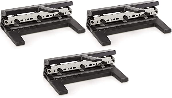 Swingline Hole Punch, Heavy Duty Hole Puncher, Adjustable, 2-7 Holes, 40 Sheet Punch Capacity, Black (74440) Pack of 3 (Tamaño: 3 Pack)