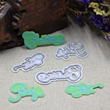 E-SCENERY Your Life Metal Cutting Dies Handmade DIY Stencils Template Embossing for Card Scrapbooking Craft (Baby First Christmas) (Color: Baby First Christmas)