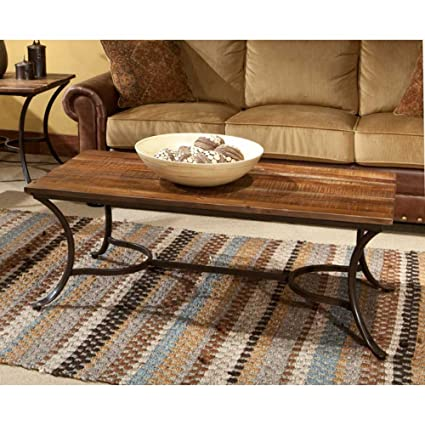 Emerald Home Insbruck Rectangular Rustic Brown Reclaimed Wood Coffee Table