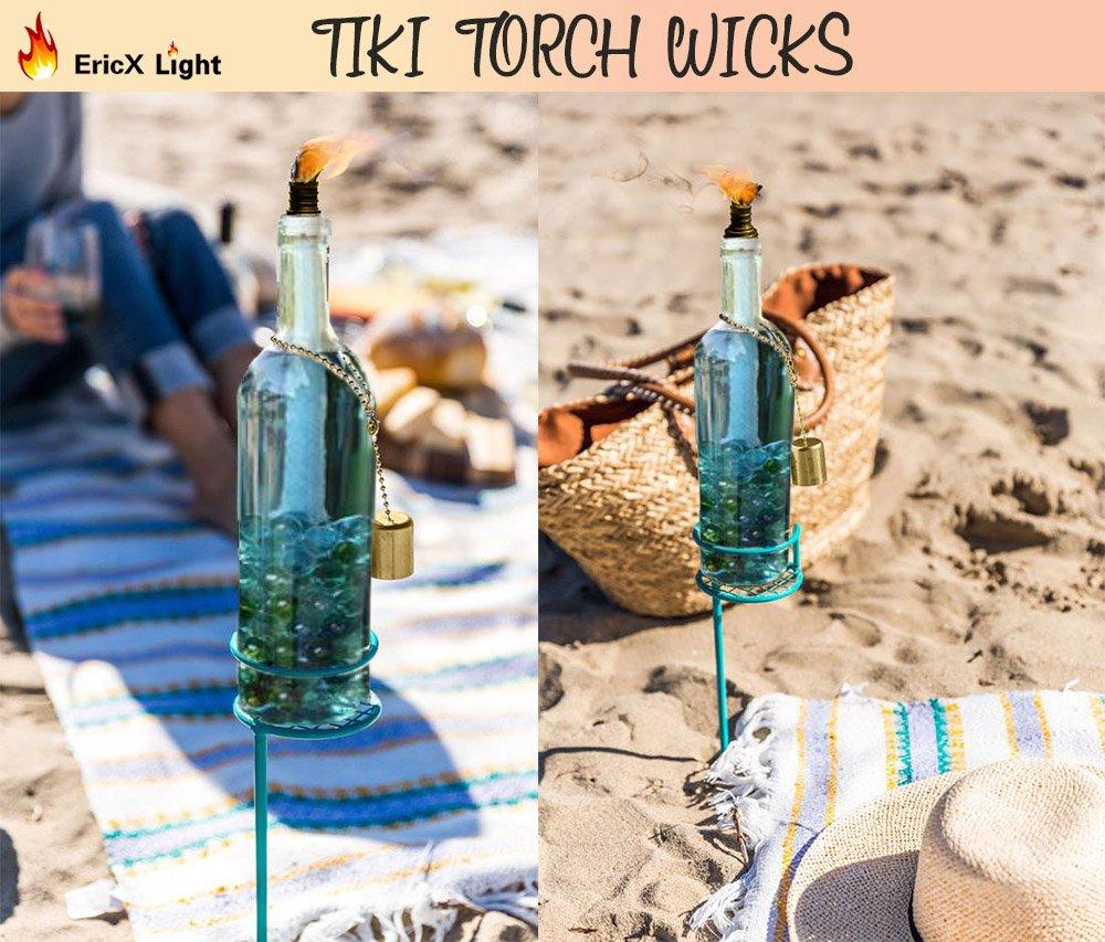 Wine Bottle Tiki Torch for an Outdoor Wine Bottle Light