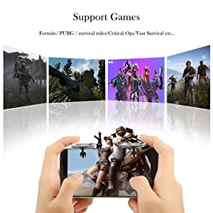 MIWORM Mobile Controller- Mobile Game Controller, Cellphone Game Trigger, Battle Royale Sensitive Shoot and Aim Gift for Kids (Mobile Game Controller