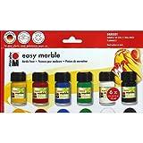 Marabu Easy Marble Paint Starter Set (MBU66053) (Color: Mutlicolor, Tamaño: 15 ml)