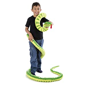 Melissa & Doug Giant Boa Constrictor - Lifelike Stuffed Animal Snake (Over 14 Feet Long, Great Gift for Girls and Boys - Best for 3, 4, 5 Year Olds and Up) (Color: Green, Tamaño: 1 Count)