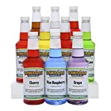 Hawaiian Shaved Ice 10 Flavor Syrup Package | Pack Includes 10 Snow Cone Syrup Flavors (16oz. Each) | Best Snow Cone Sample Pack | For Household or Commercial Use (Tamaño: Pack of 10)