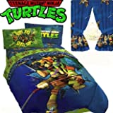 Jay Franco TEENAGE MUTANT NINJA TURTLES 'Time to Shell Up' Boys Blue TWIN/FULL Comforter(71