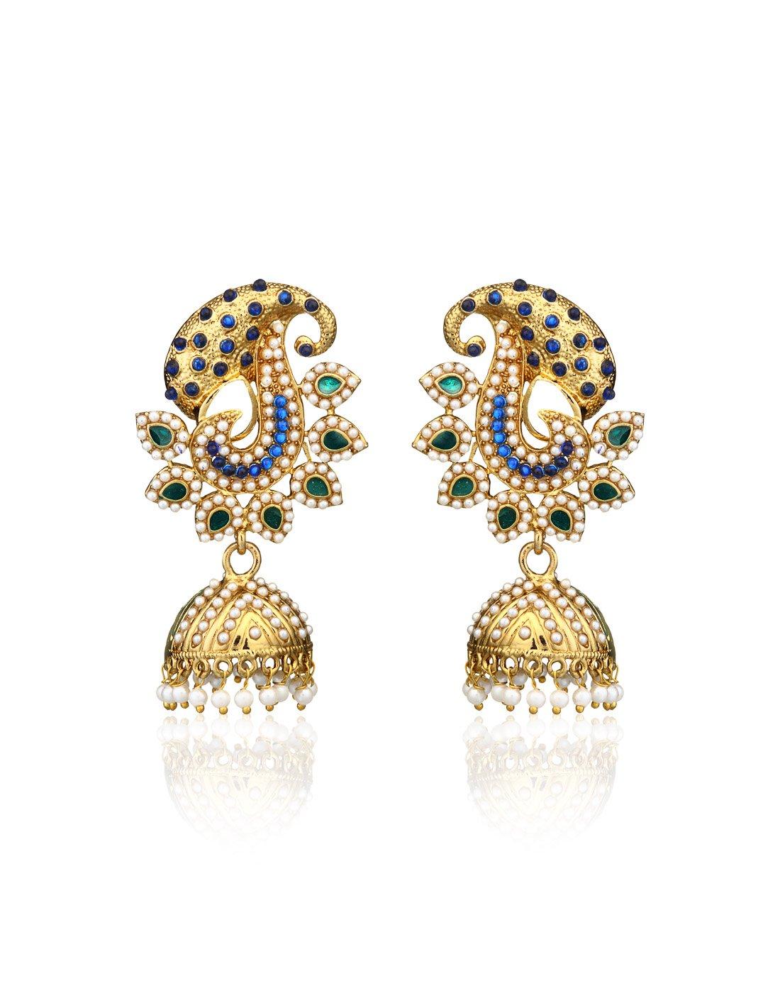 Zaveri Pearls Bollywood Designer Jhumki Earring For Women -Zpfk261