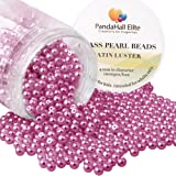 PH PandaHall About 1000 Pcs 4mm TTiny Satin Luster Glass Pearl Bead Round Loose Spacer Beads for Jewelry Making Deep Cerise (Color: Deep Cerise-1000 Pcs, Tamaño: 4~4.5mm)