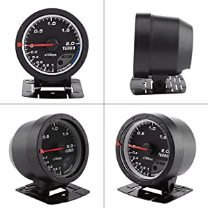 60mm LED Turbo Boost Meter Gauge Black Shell For Auto Racing Car 0-200 Kpa Universal Turbo Boost Gauge Car Boost Gauge