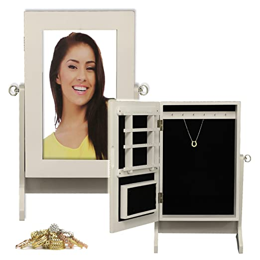 Generic QY-UK4-16FEB-20-1167 *1**2983** Cabinet Box r Top W Wooden Jewellery Dresser Dresser Top eweller Jewelry Storage Storage Organiser Mirror Hooks s Jewelry Storage