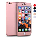 iPhone 6s Case, VANSIN 360 Full Body Cover Ultra Thin Protective Hard Slim Case Coated Non Slip Matte Surface with Screen Protector for Apple iPhone 6 and iPhone 6s (4.7'') - Rose Gold (Color: Rose Gold)