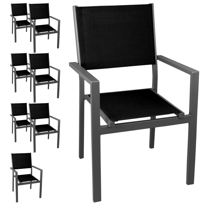 8 st ck gartenstuhl stapelstuhl aluminium stapelbar. Black Bedroom Furniture Sets. Home Design Ideas