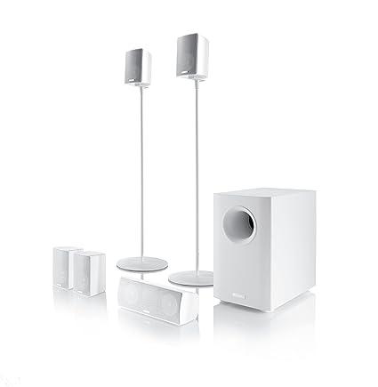 Canton Movie 160 highgloss blanc 5.1 système haut parleurs home cinéma (Import Allemagne)