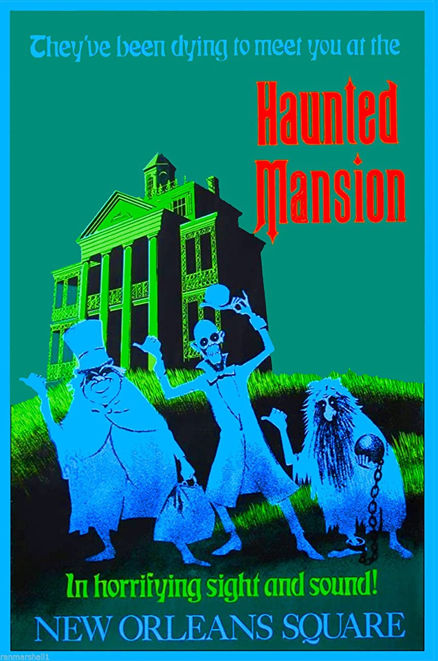 Disney Haunted Mansion New Orleans Square Anaheim Southern California Vintage Disneyland Ride United States Travel Advertisement Art Poster. Poster measures 10 x 13.5 inches 0