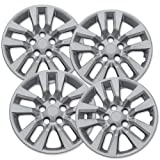 OxGord Hubcaps for Nissan Altima (Pack of 4) Silver 16 Inch -Wheel Covers, Snap On (Tamaño: 16