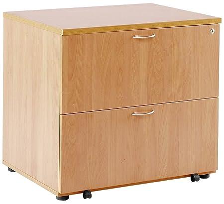 Office Hippo Pro Heavy Duty Desk High 2-Drawer Side Filer - Oak