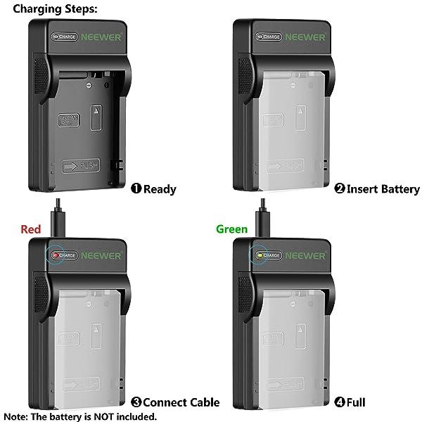 NEEWER MICRO USB CARGADOR DE BATERÍA - Para Canon LP-E8, Canon Rebel T2i, T3i, T4i, T5i, EOS 550D, 600D, 650D, 700D, Kiss X4, X5, X6, cámaras digitales SLR (ultra delgado, carga rápida) C-3558069