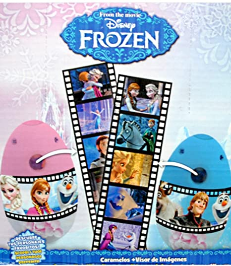 LOT 10 OEUF SURPRISE FROZEN PROJECTEUR D IMAGE IMAGES + BONBON DISNEY