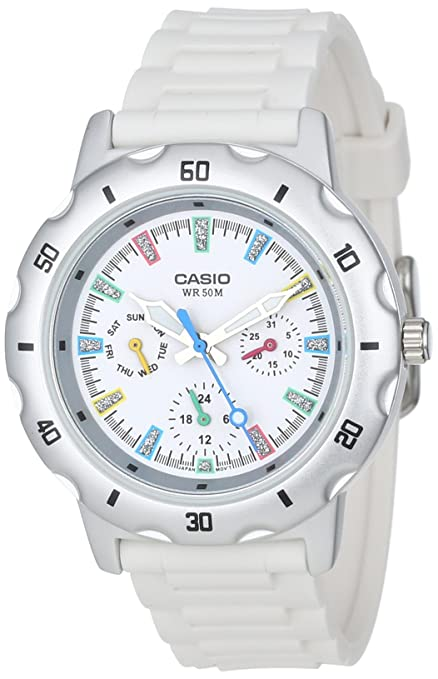 Casio Women's LTP1328-7EV Sport Classic White Analog Dial and Resin Strap Watch