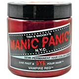 Manic Panic Vampire Red Hair Dye 4 oz (Color: Vampire Red, Tamaño: 4 Ounce)