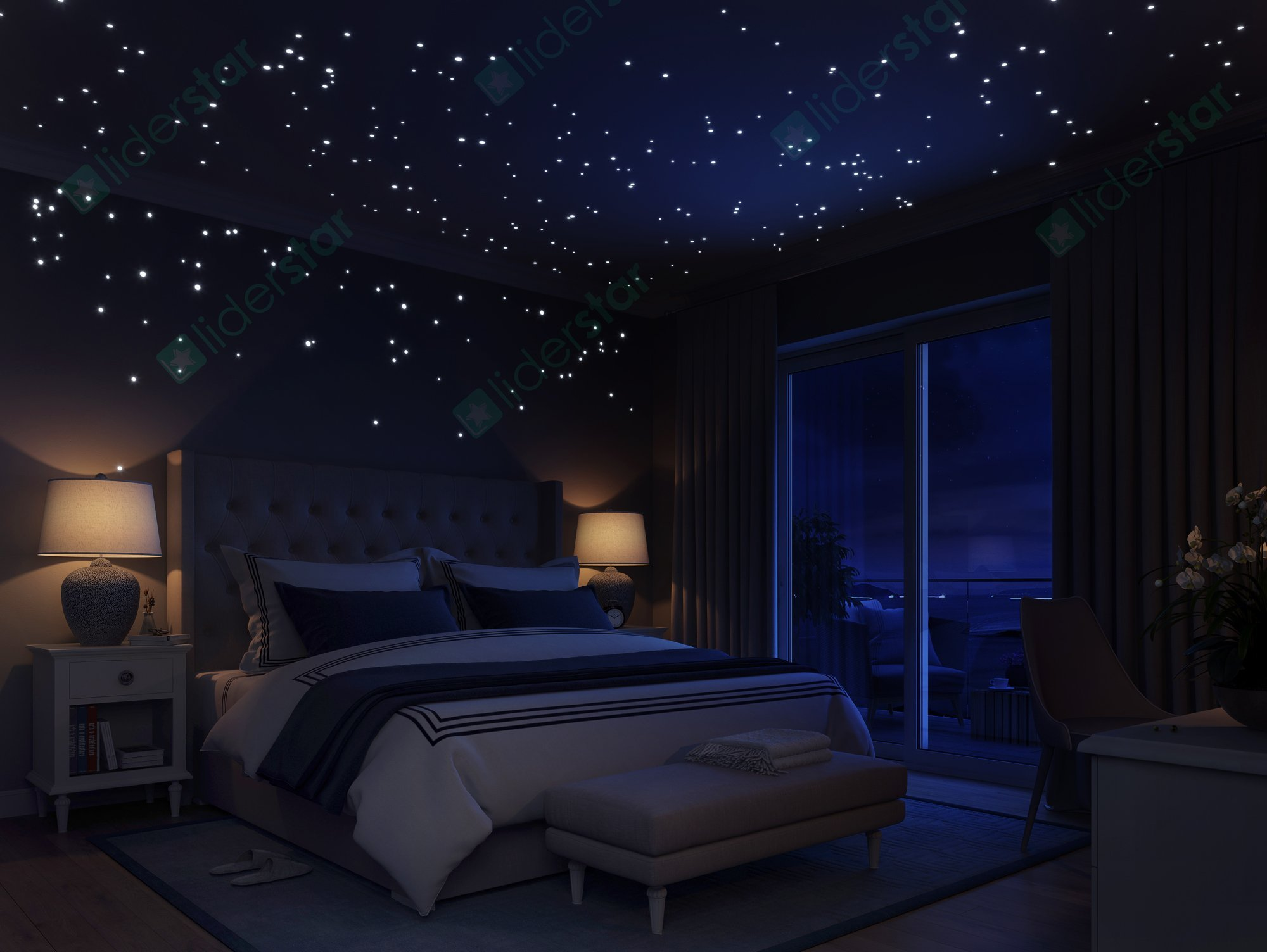 glow in the dark stars wall stickers by liderstar 252 glow in the dark wall sticker foxy seller