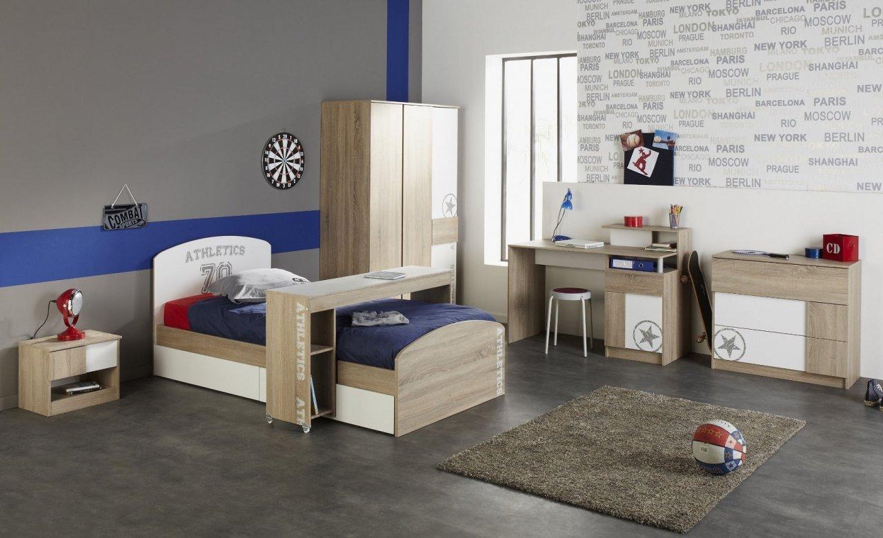 Kinderzimmer Jugendzimmer Eiche Sonoma / weiß 7-teilig Taylon online kaufen