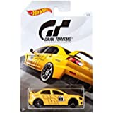 Hot Wheels 2008 LANCER EVOLUTION 2018 GRAN TURISMO Series #2 YELLOW 2008 MITSUBISHI LANCER EVOLUTION 1:64 Scale Collectible Die Cast Metal Toy Car Model #3/8 (Color: Yellow)
