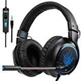 Over Ear Gaming Headset, Sades R5 PS4 New Xbox One PC Gaming Headphones, Bass/ Stereo/ Noise Cancelling/ Microphone/ Volume Control/ 3.5MM Plug (Color: R5)