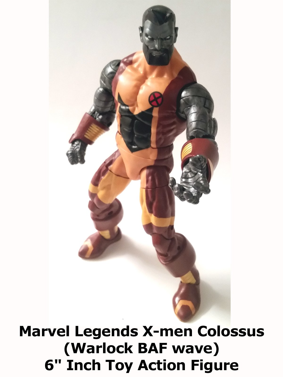 "Review: Marvel Legends X-men Colossus (Warlock BAF wave) 6"" Inch Toy Action Figure"