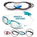i-Sports Pro Anti-Fog, UV Protected Swim Goggle, Blue (Color: Blue)