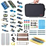 HSU Development Kit for Raspberry Pi 3 and Arduino with 16 Different Sensor Modules,Hundreds Electronic Components,Other Necessary Accessories and Big Carrying Case (Advanced) (Color: Adavance kit(without Pi model), Tamaño: Advanced)