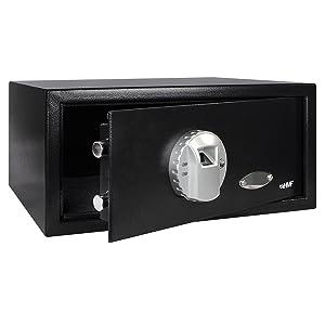 HMF 49126 Tresor Möbeltresor Fingerabdruck Fingerscan FS37EM , 420 x 370 x 200 cm , schwarz  BaumarktKundenbewertung und Beschreibung