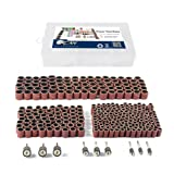 338pcs Sanding Drum Kit with Free Box fits Dremel Includes Rubber Drum Mandrels - 1/2, 3/8 & 1/4