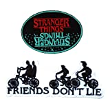 Stranger Things Blue/Red Oval Bike 2PK Iron On Patch InspireMe Family Owned (Tamaño: 6