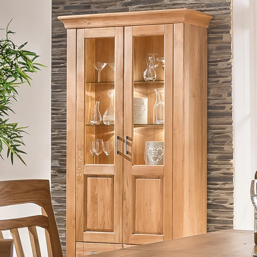 BFK Möbel Collection Beverly Vitrine  Holz braun 42.5x110x200 cm