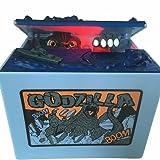 Godzilla Monster Dinosaur Moving Musical Electronic Chirldren Coin Bank Piggy Bank Money Saving Box By AlienTech (Color: Godzilla Monster)