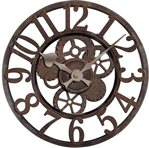 Ashton Sutton TR4704 Gear Wall Clock, Resin