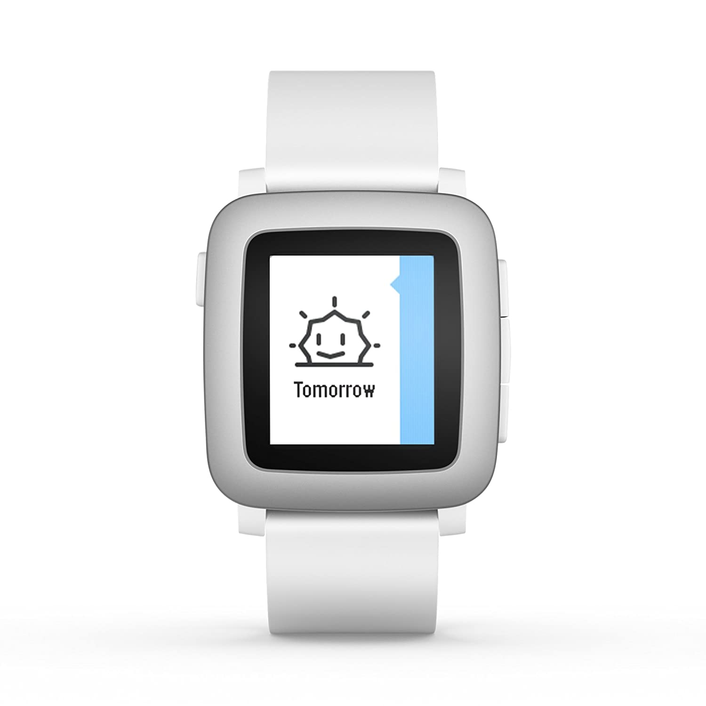 Pebble Time 501-00021 Smartwatch (White)