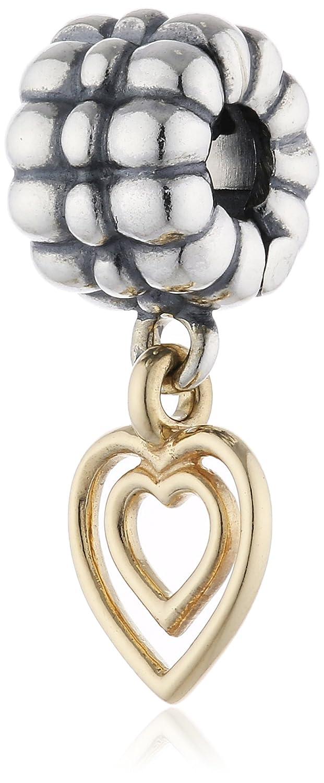 Pandora Damen-Charm Herz 925 Sterling Silber 14k Gold 790987 online bestellen