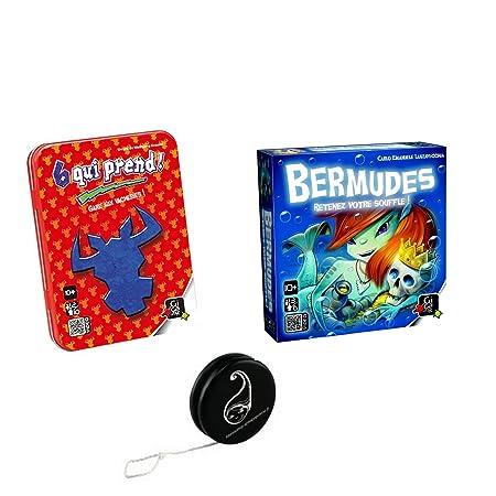 Lot de 2 jeux Gigamic : 6 Qui Prend + Bermudes + 1 yoyo Blumie