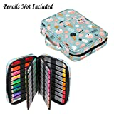 BTSKY Portable Colored Pencil Case - Colored Pencil Organizer Holds 166 Pencils or 112 Gel Pens Large Capacity Zippered Pencil Holder Gel pens (Ice Cream) (Color: Ice Cream)
