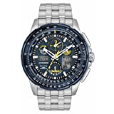 Citizen JY8058-50L Men's Stainless Steel Silver Bracelet Band Blue Dial Smart Watch