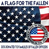 U.S. American Flag 3'x5' + FREE Affiche. Made in USA. Bundled Product. Embroidered Stars Sewn Stripes. Sturdy Brass Grommets. Premium Nylon. 30% of Proceeds Donated to Families of Fallen Officers. (Color: Red, White, Blue, Tamaño: 3 x 5)