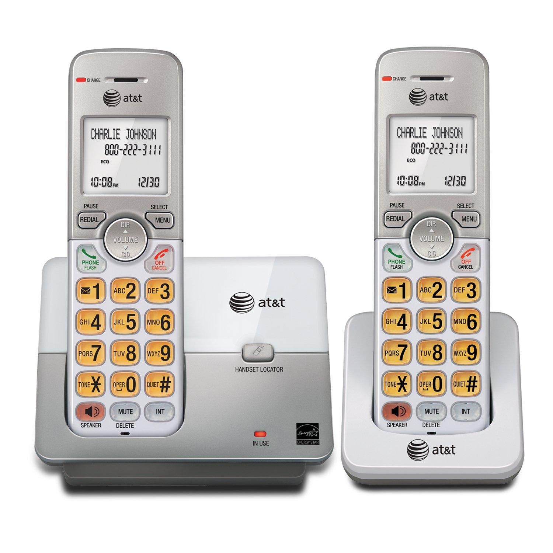 Telefonos-fijos AT&T, AT y T EL51103 DECT 6.0 teléfono con identificador de llamadas/llamada en espera, 1 auricular, plata en Veo y Compro
