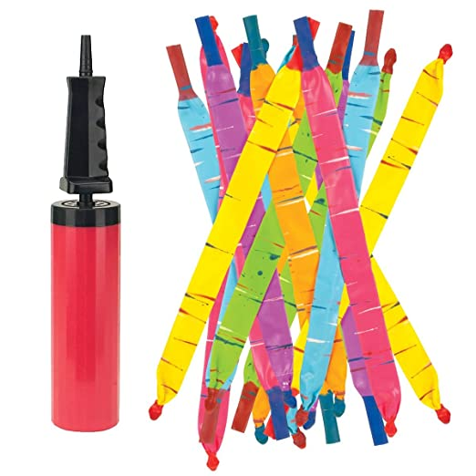 Rocket Balloons with Pump (colors may vary)