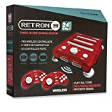 Hyperkin RetroN 3 Gaming Console 2.4 GHz Edition for SNES/ Genesis/ NES (Laser Red)
