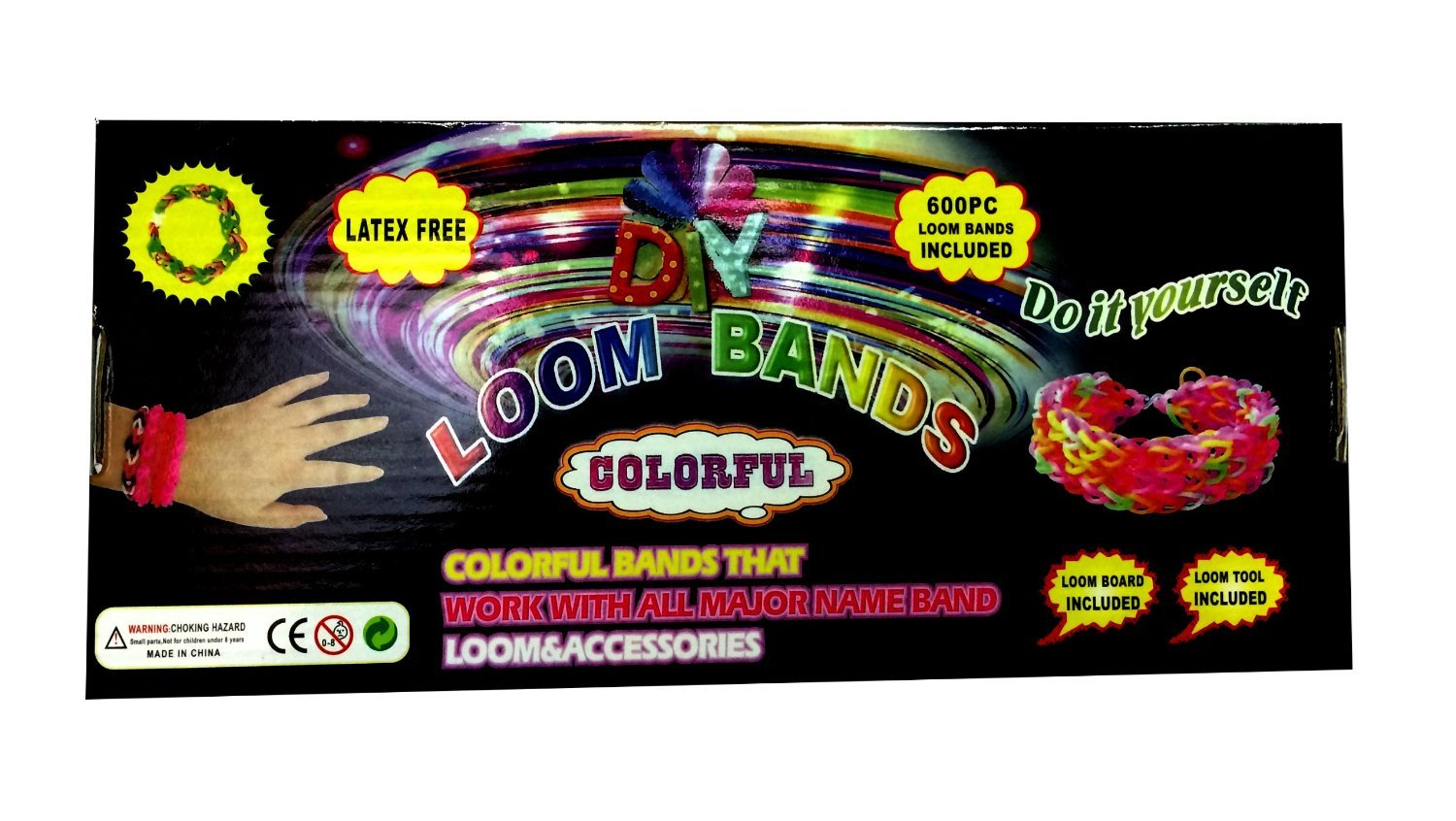 NEW Colourful Rainbow LOOM RUBBER BANDS