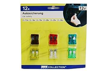 10 x Flachstecksicherung 15A blau Flachsicherung Stecksicherung 32V