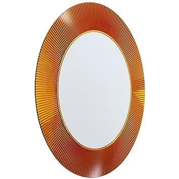 Kartell Mirror, 9950AM, brown, ø 78 x 4 cm, h 78 cm