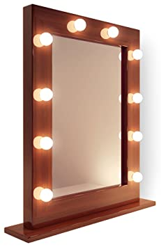 Dark miroir de maquillage hollywood hollywood lampes led for Miroir hollywood
